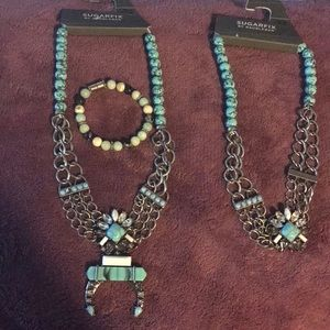Turquoise like statement pieces